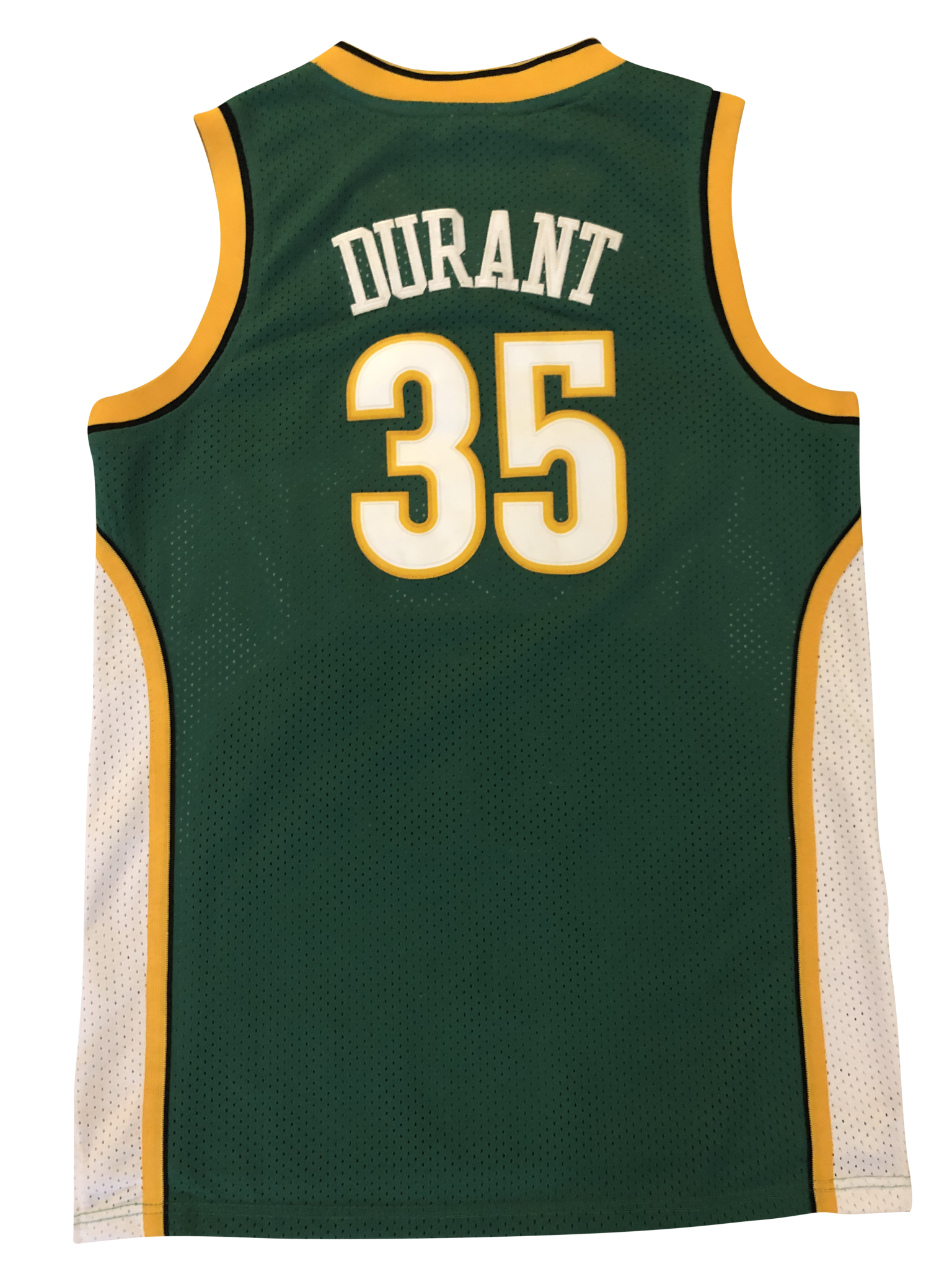 fdfc5f96f Wolf Gang Sport - KEVIN DURANT  35 SEATTLE SUPERSONICS ADIDAS THROWBACK  EDITION AUTHENTIC JERSEY 2017