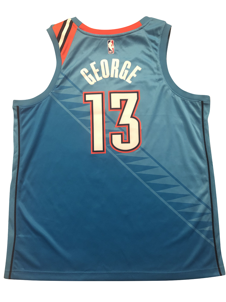 designer fashion 9f8ce 26ca5 Paul GEORGE #13 Oklahoma City Thunder CITY EDITION Jersey 2018